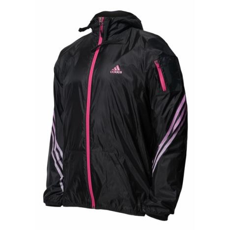 Adidas Womens track jacket Black/ Pink